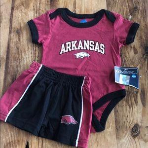 NWT Arkansas Razorbacks Onesie